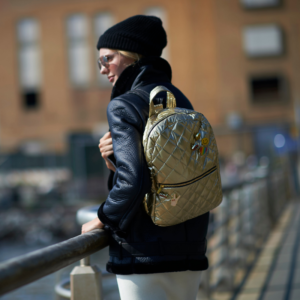 The Reversible Backpack - Gold/Black