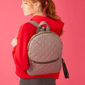 The Reversible Backpack - Light Pink/Heather Grey Bag