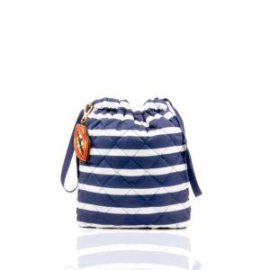 Le Pouf - Stripe/Navy Nylon