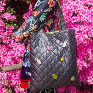 The Reversible Shopper- Gold / Black Bag
