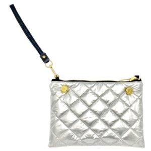 The Reversible Clutch - Silver/Black with Black Wrist Strap