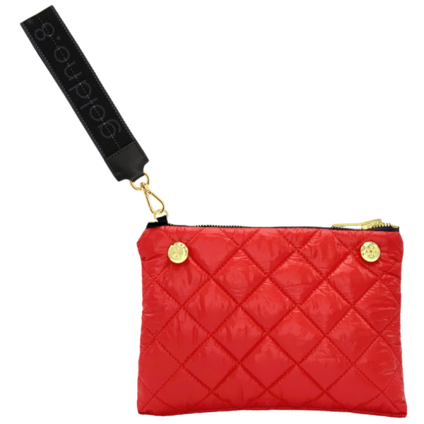 The Reversible Clutch - Red/Grey Camo with Black/Grey Logo Wrist Strap