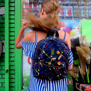 The Reversible Backpack - Splatter/Navy