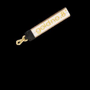 Gold/White Logo Webbing
