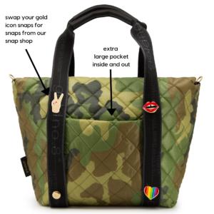 The Reversible Carryall - Camo/Black Bag & Logo Webbing Tote Handle