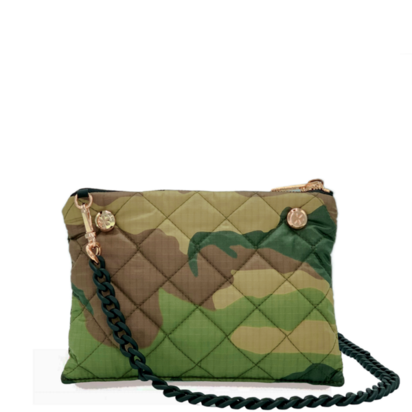 The Reversible Crossbody - Camo/Black with Black Rubberized Chainlink Strap