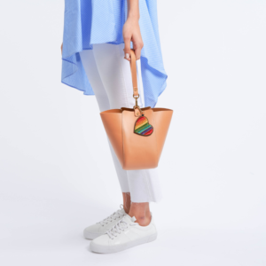 The Trapezoid Clutch - Tan Leather with Tan Leather Strap
