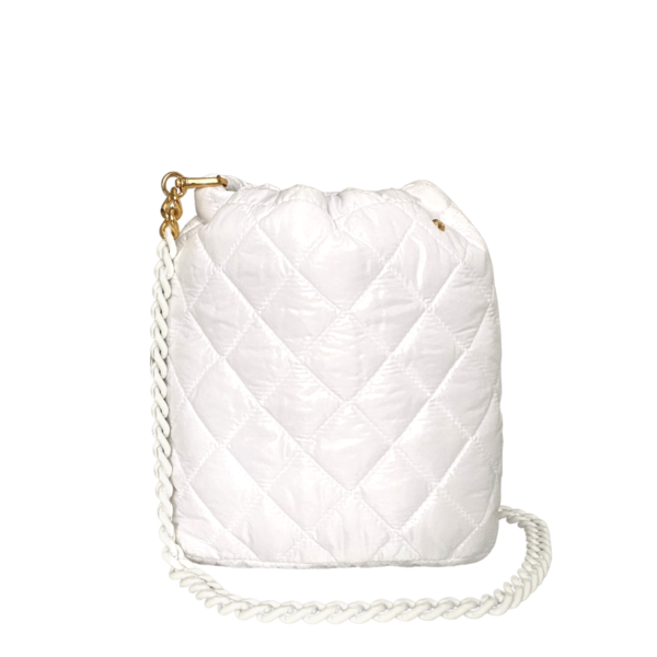 Le Pouf - White with White Rubberized Chainlink Strap