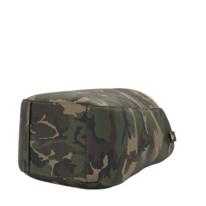 The Bag in Bag - Camo Leather Bag & Neon Pink Pouf