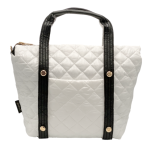 The Reversible Carryall - White/Black Bag and White/Black Tote Handle