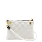 The Reversible Crossbody - White/Black with White Strap