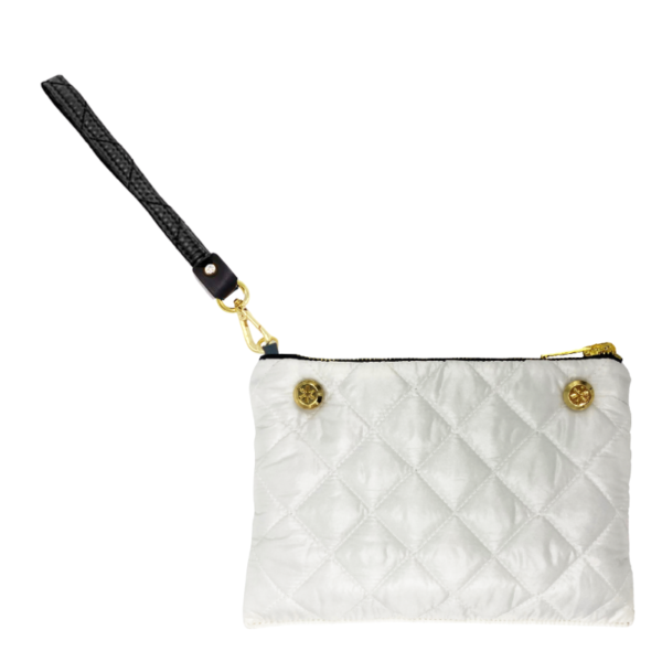 The Reversible Clutch - White/Black with Black Wrist Strap