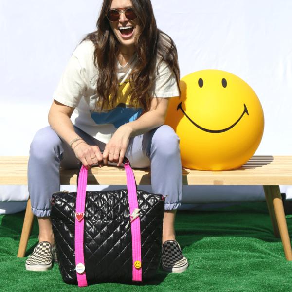 The Reversible Carryall - Neon Pink/Black Bag & Neon Pink/Black Tote Handle