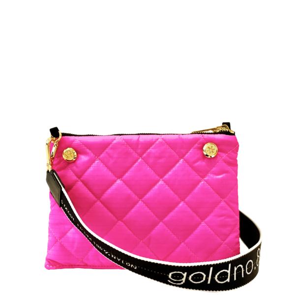 The Reversible Crossbody - Neon Pink/Black with Black/White Logo Strap