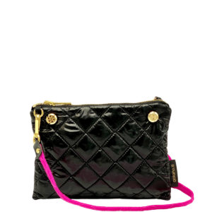 The Reversible Crossbody - Neon Pink/Black with Neon Pink Strap
