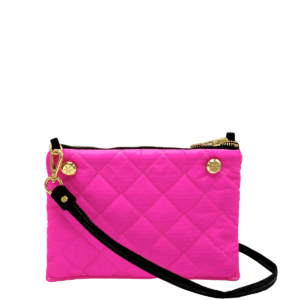 The Reversible Crossbody - Neon Pink/Black with Black Strap