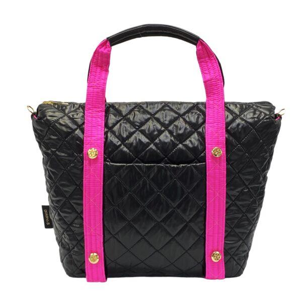 The Reversible Carryall - Neon Pink/Black Bag