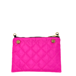 Reversible Pouch - Neon Pink / Black