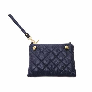The Reversible Clutch - Splatter/Navy with Navy Wrist Strap