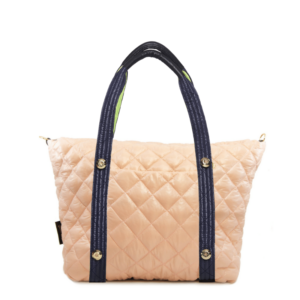 The Reversible Carryall - Light Pink/Heather Grey Bag & Neon Yellow/Navy Tote Handle