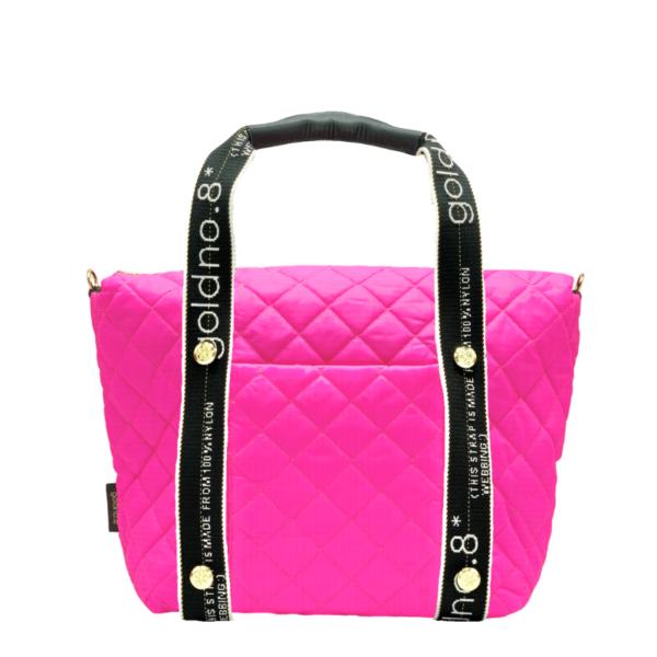The Reversible Carryall -  Neon Pink/Black & Logo Webbing Tote Handle
