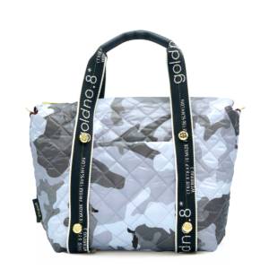 The Reversible Carryall -  Red/Grey Camo & Logo Webbing Tote Handle
