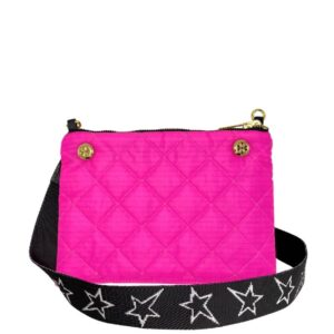 The Reversible Crossbody - Neon Pink/Black with Starz Strap