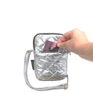 The Essential Phone Bag - Silver