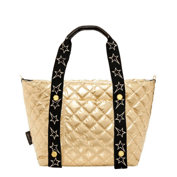 The Reversible Carryall -  Gold/Black Bag & STARZ Webbing Tote Handle