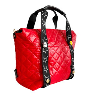 The Reversible Carryall -  Red/Grey Camo & STARZ Webbing Tote Handle
