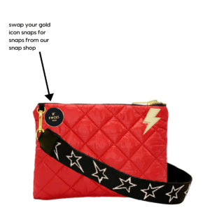 The Reversible Crossbody - Grey Camo/Red with STARZ Strap