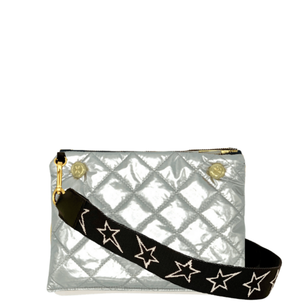 The Reversible Crossbody - Silver/Black with STARZ Strap